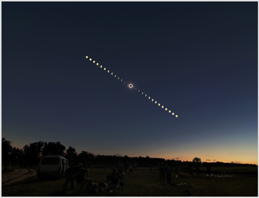 Total Solar Eclipse 2008 - Novosibirsk, Siberia. -© Frank Ryan (used with permission)
