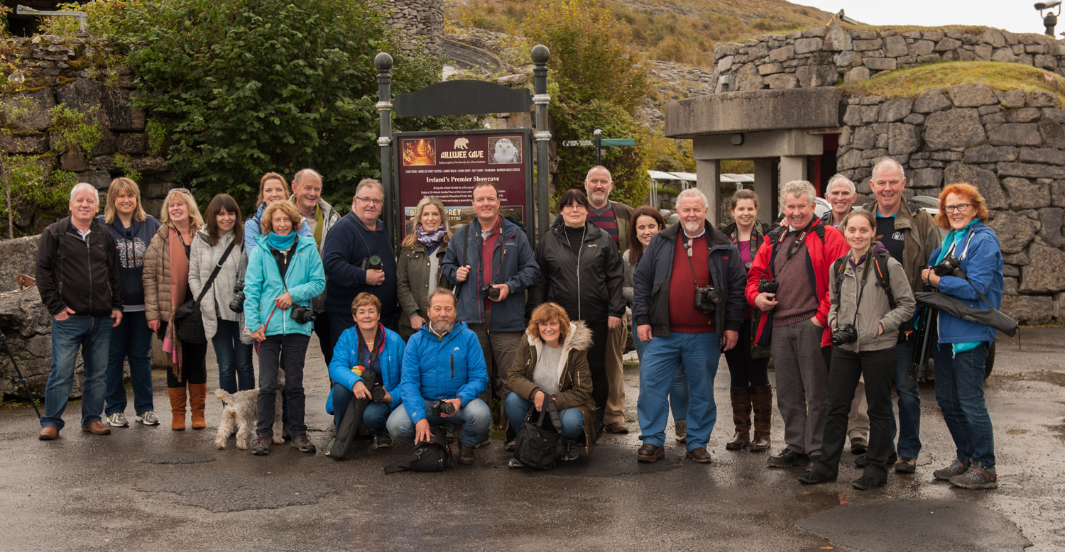 Club members at Aillwee Caves.