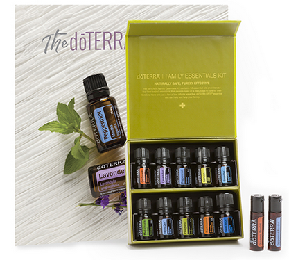 Family essential €152.50 - 5 ML BOTTLES: Lavender Lemon PeppermintMelaleucaOreganoFrankincenseDeep BlueAirZenGestOn GuardOTHER PRODUCTS:Peppermint BeadletsOn Guard BeadletsdōTERRA Essentials Booklet