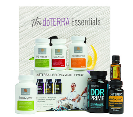 Cleanse & restore kit €318.50 - Lifelong Vitality Pack (available in vegan)PB Assist+™GX Assist™Zendocrine™ SoftgelsZenGest TerraZyme™Lemon (15 ml)Zendocrine™ ComplexDDR Prime™ SoftgelsdōTERRA Essentials Booklet