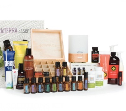 Natural solutions kit €719 - 15 ML BOTTLES: FrankincenseLavender Lemon MelaleucaPeppermintWild orange Aroma Touch BalanceAirZengestOn Guard Past TenseSerenityON GUARD COLLECTIONBeadletsToothpasteHand Wash w/2 DispensersOn Guard+ SoftgelsOTHER PRODUCTS:Lifelong Vitality Pack (available in vegan)ZenGest TerraZymeDeep Blue RubFractionated Coconut Oil (115ml)Lumo DiffuserWooden BoxAir™ Vapour StickCorrect-X™PB Assist+™Salon Essentials Protecting ShampooSalon Essentials Smoothing ConditionerdōTERRA Essentials Booklet