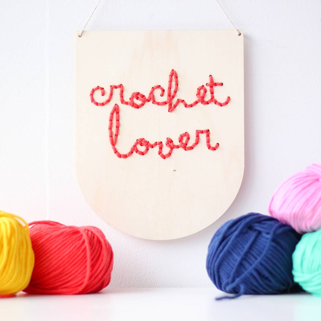 Crochet Lover embroidery board available in my shop