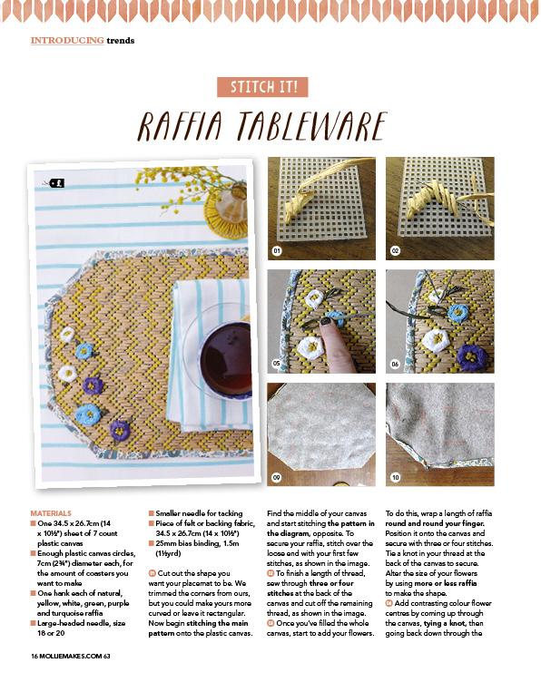 Raffia Tableware Cotton Clara Feature