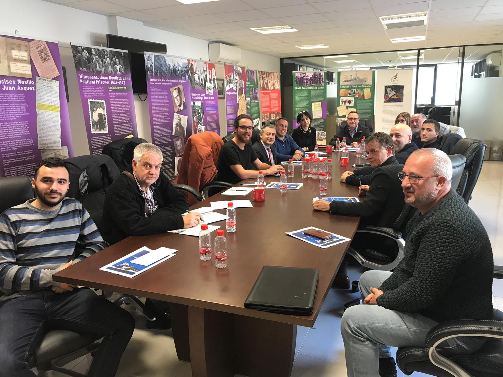 Together Gibraltar meets with Unite the Union