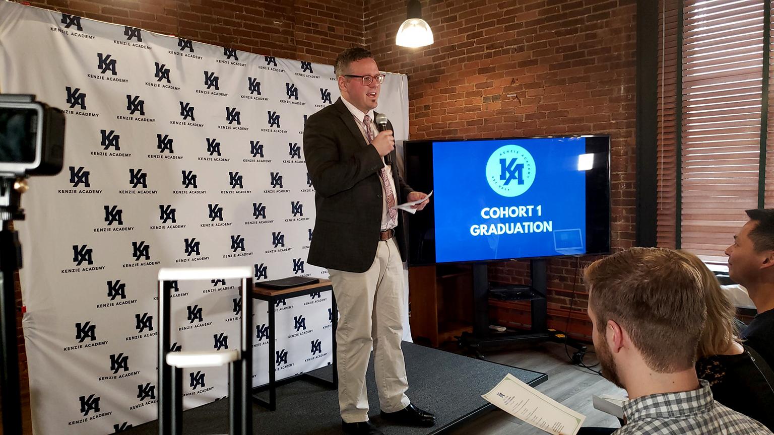 Matt Cummings, Indy Campus Director, Addressing the Graduating Cohort