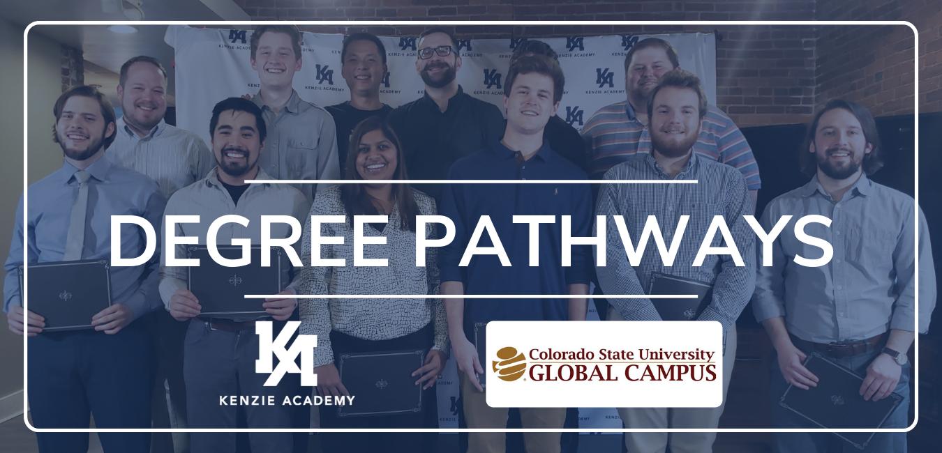 Degree Pathways Kenzie and CSU-Global Graphic