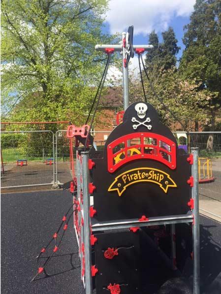 Pirate playground equipment