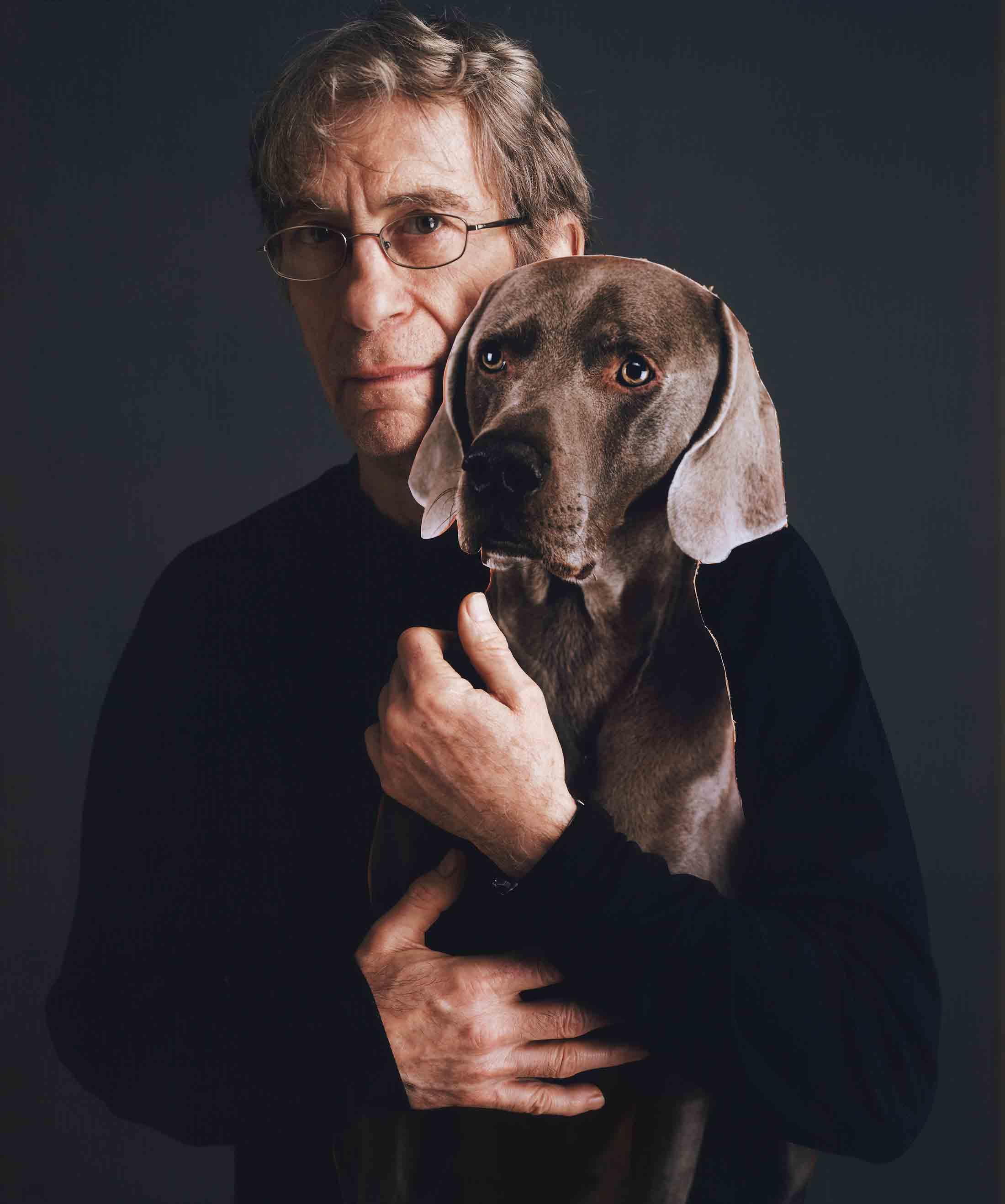 William Wegman and his dog Bobbin © Tim Mantoani