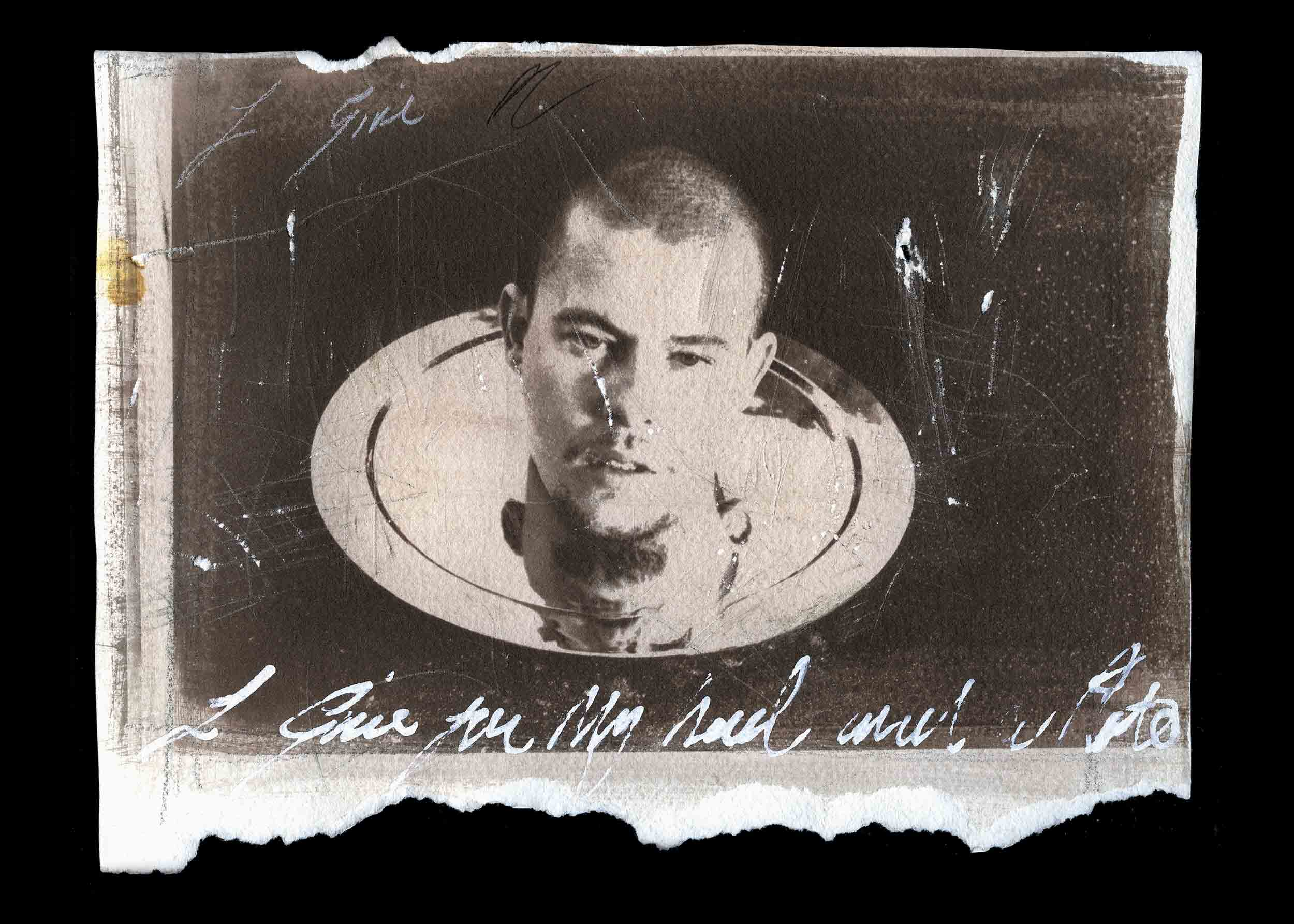 Ann Ray,  I Give You My Soul  (Lee McQueen, gum bichromate by the artist). Courtesy of the artist.