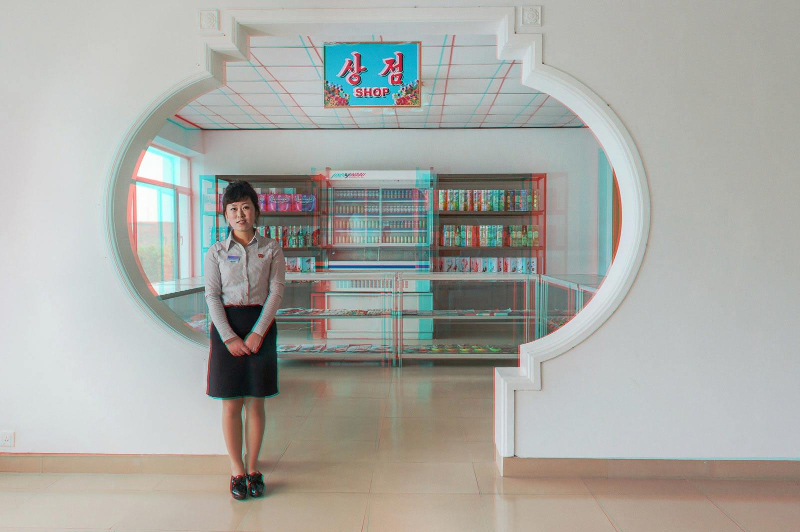 KANG KUM HYANG, 24, Waitress, Sugok Rest Stop  © Matjaž Tančič with Koryo Studio