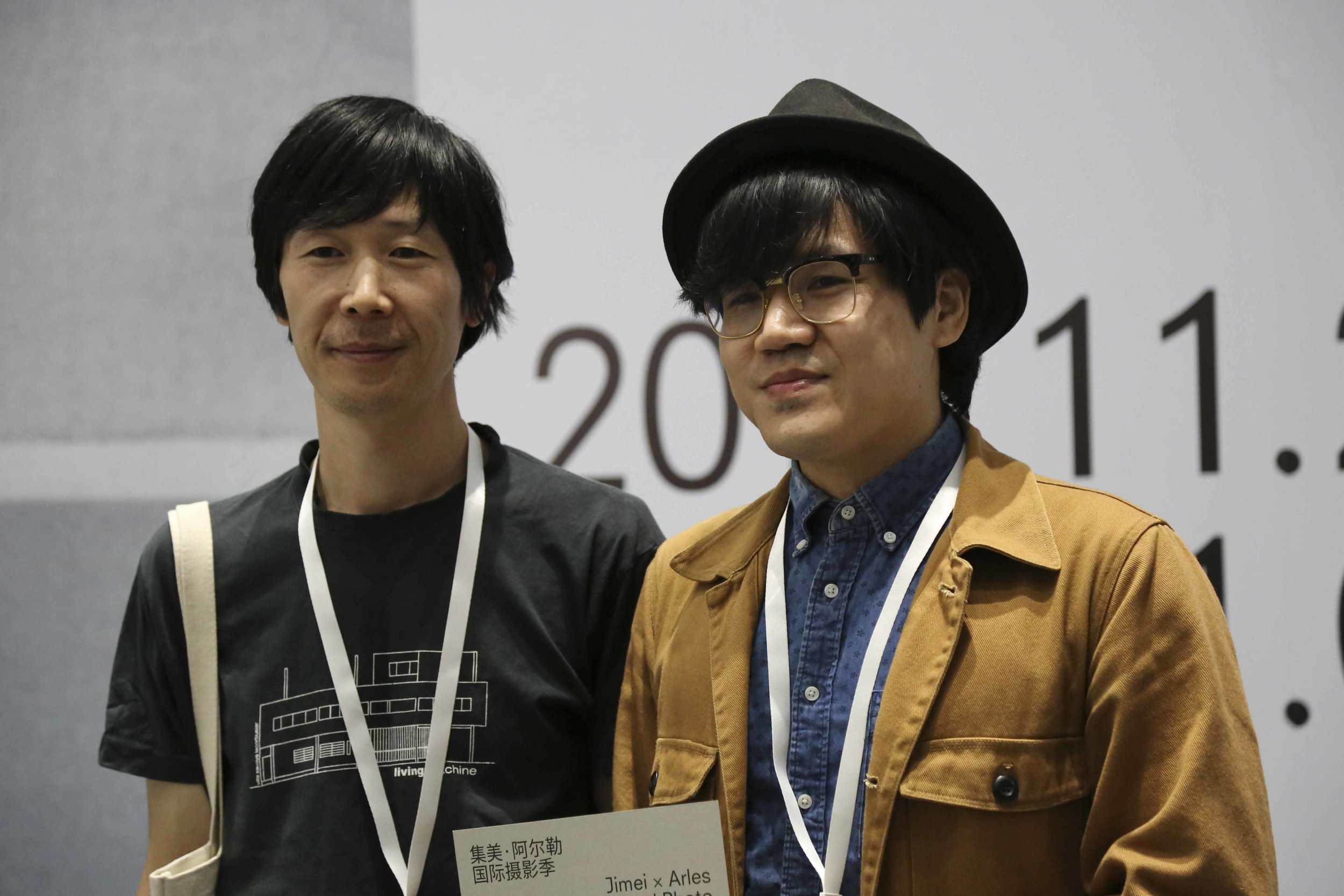 Curator Dong Bingfeng and artist Lei Lei