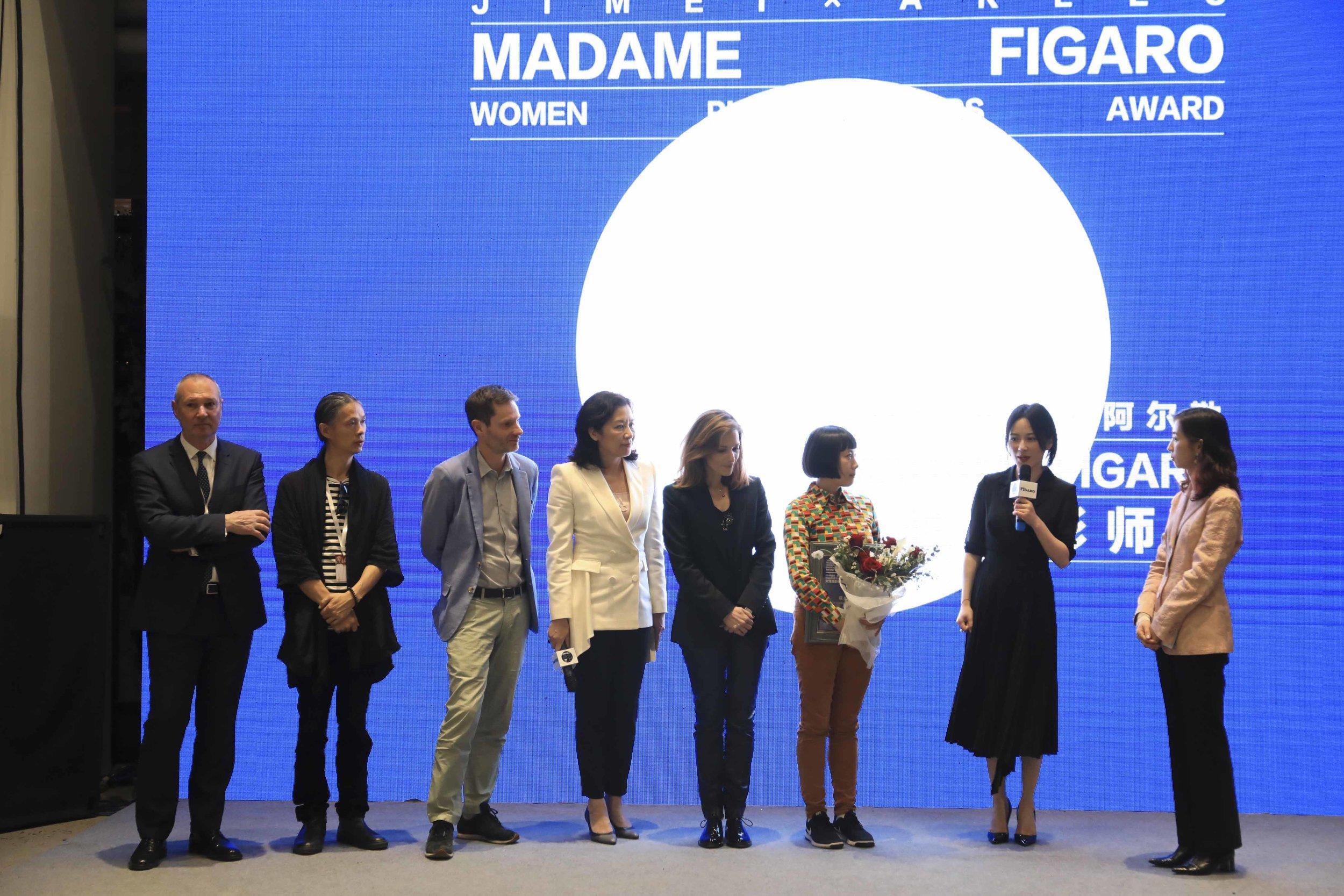 From left to right: Jean-Sébastien Stehli, RongRong, Sam Stourdzé, Cai Jinqing, Yaël Blic-Ripert, Pixy Liao, Yu Feihong, Liu Feifei