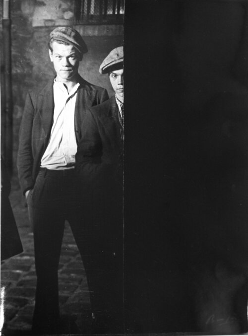 Brassaï,  Toughs in Big Albert's Gang,  c. 1931-1932. Gelatin silver print, 30.1 x 23.3 cm. Courtesy of MoPS