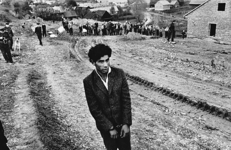 Josef Koudelka,  Slovakia , 1963. Gelatin silver print, 40.6 x 30.2 cm. © Josef Koudelka / Magnum Photo. Courtesy of The Museum of Photography, Seoul.