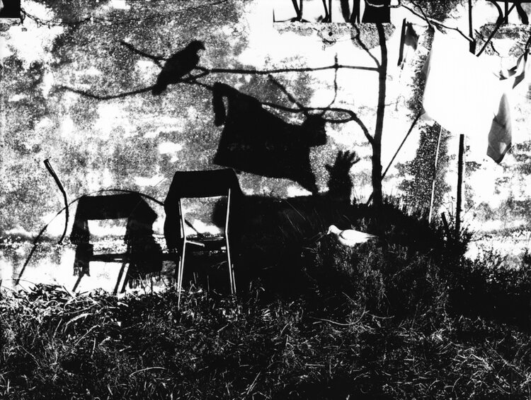 Mario Giacomelli,  December 31, 1997.  Gelatin silver print, 29.5 x 39.6 cm. © Archivio Mario Giacomelli - Rita Giacomelli. Courtesy of The Museum of Photography, Seoul.
