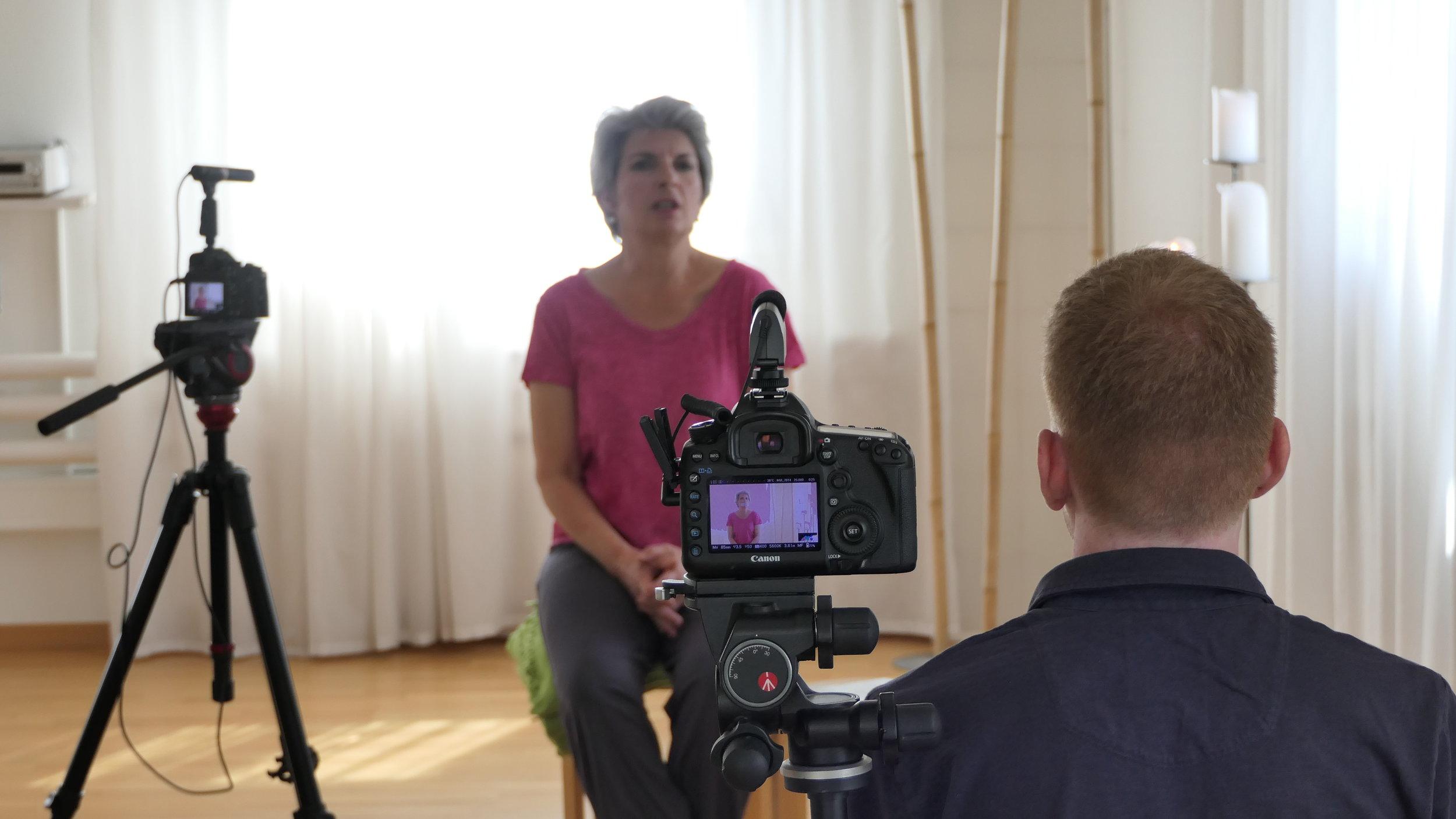 Bild: Interview-Aufnahme mit Margrit und Matthias