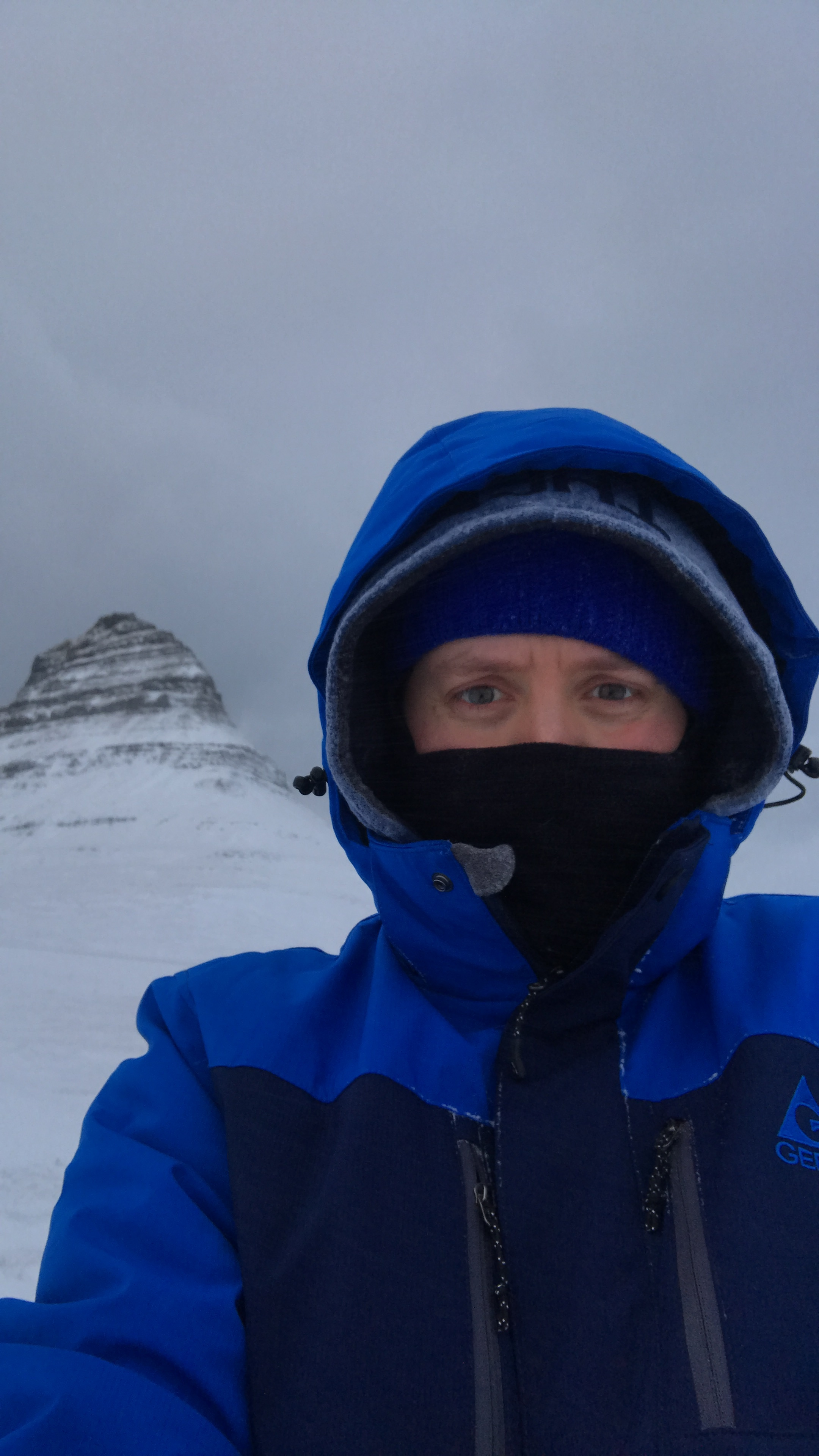Yes I am wearing 4 layers on my head alone. Kirkjufell did not want to be photographed on this day!
