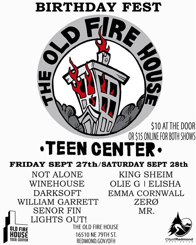 Our next show is at the Old Fire House on Friday! It's all ages and just a quick 🚗 over to Redmond see ya there!