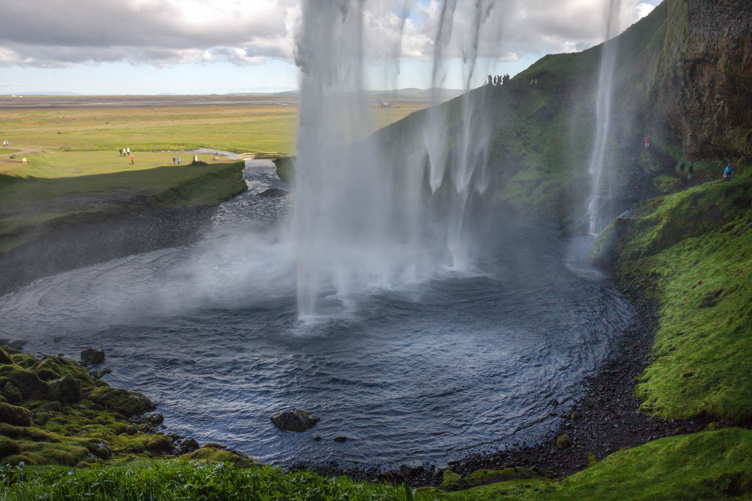 Behind the Falls, Seljalandsfoss.