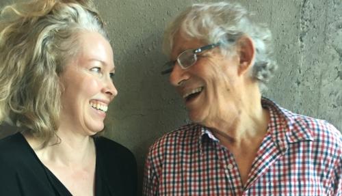 (With mentor  Stuart Kauffman . Photo by John Horgan, 2016)