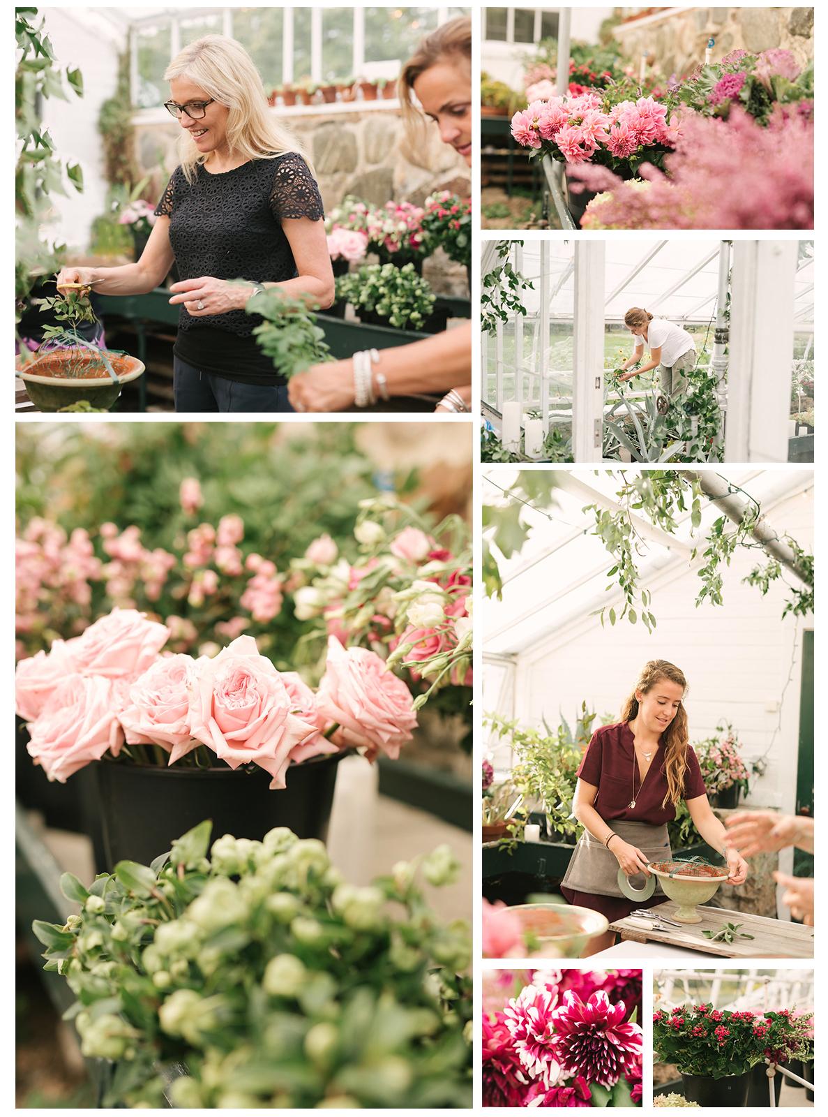 Les Fleurs floral design workshops in winter, spring, summer and fall