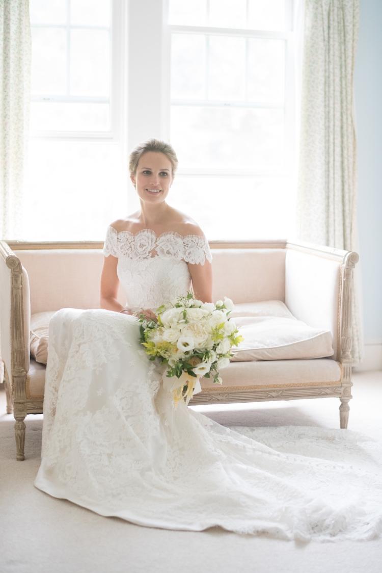 bridal bouquet, white peony, yellow rose, garden style