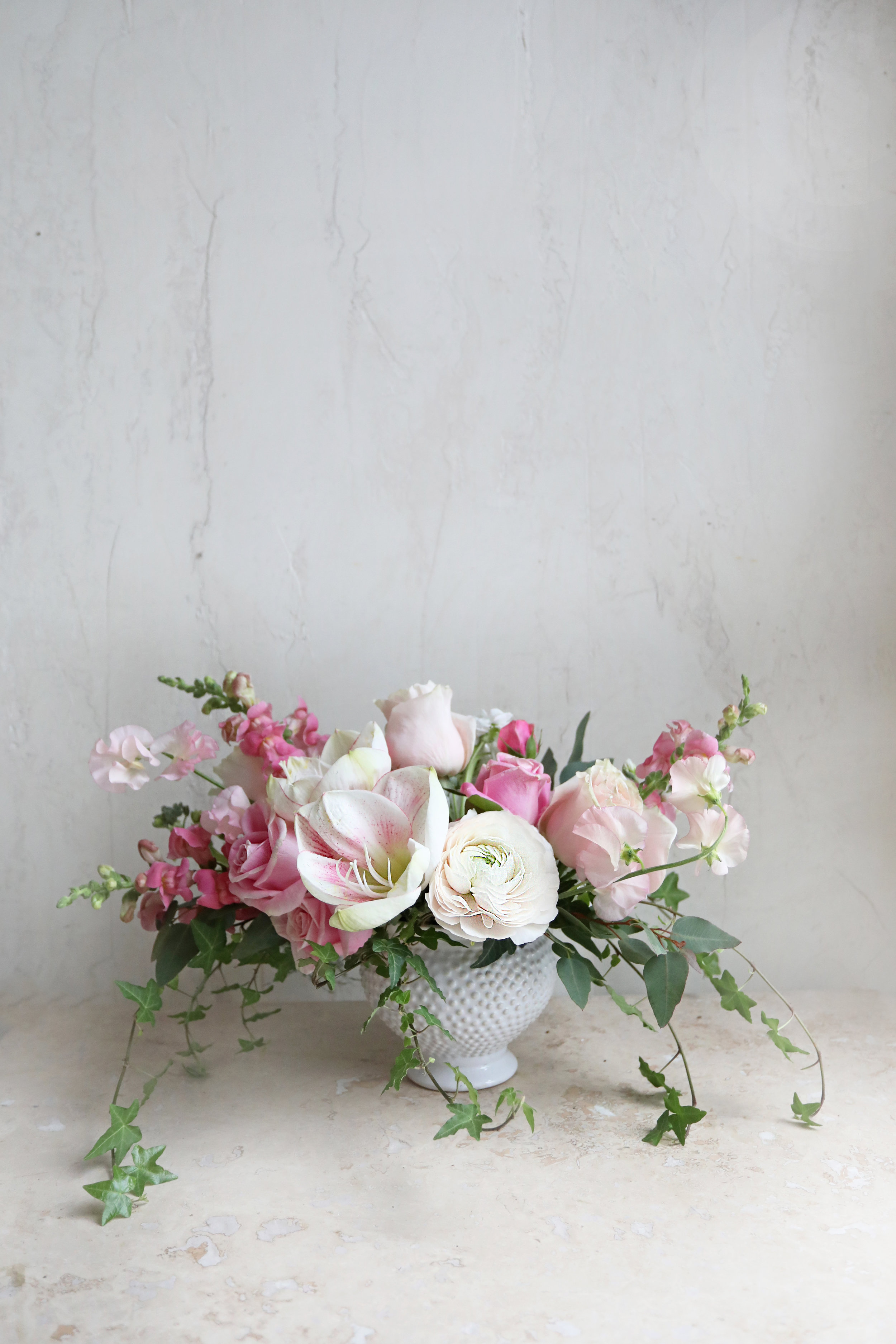 pink and white arrangement delivery of flowers andover valentines day