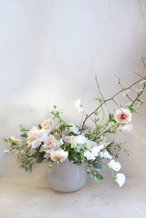 valentines day florist delivery boston andover pale pink roses flowering branches
