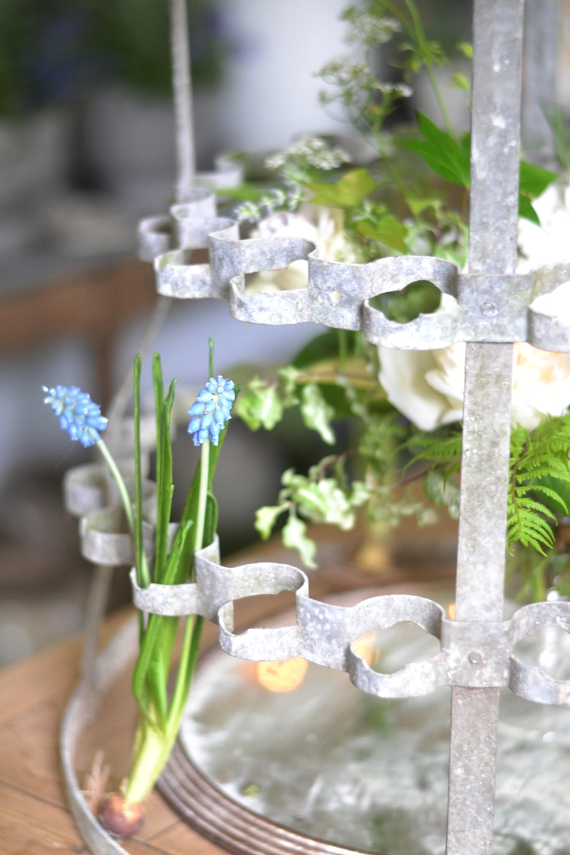 les fleurs andover antique bottle dryer rack with flowers