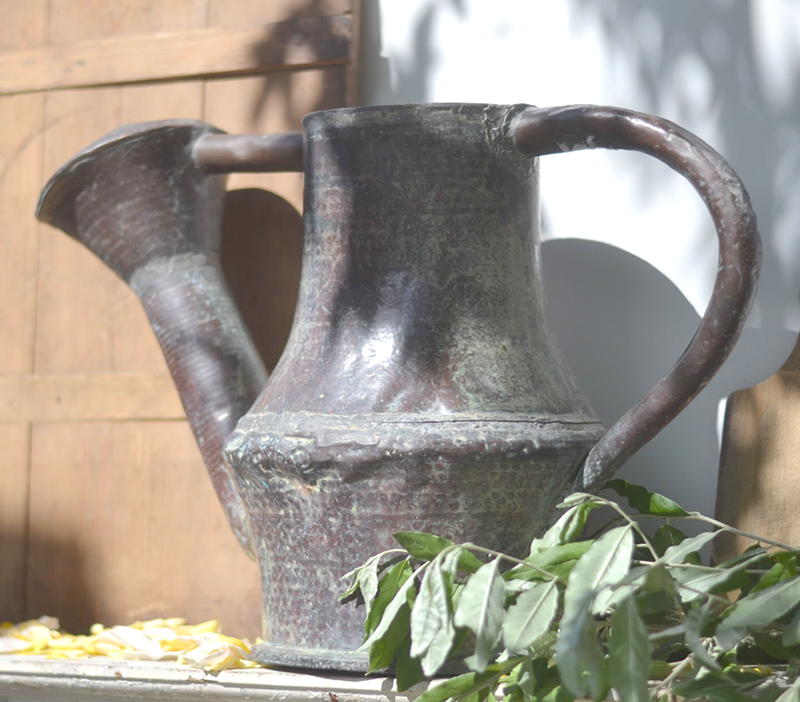 les fleurs andover vintage french copper watering can