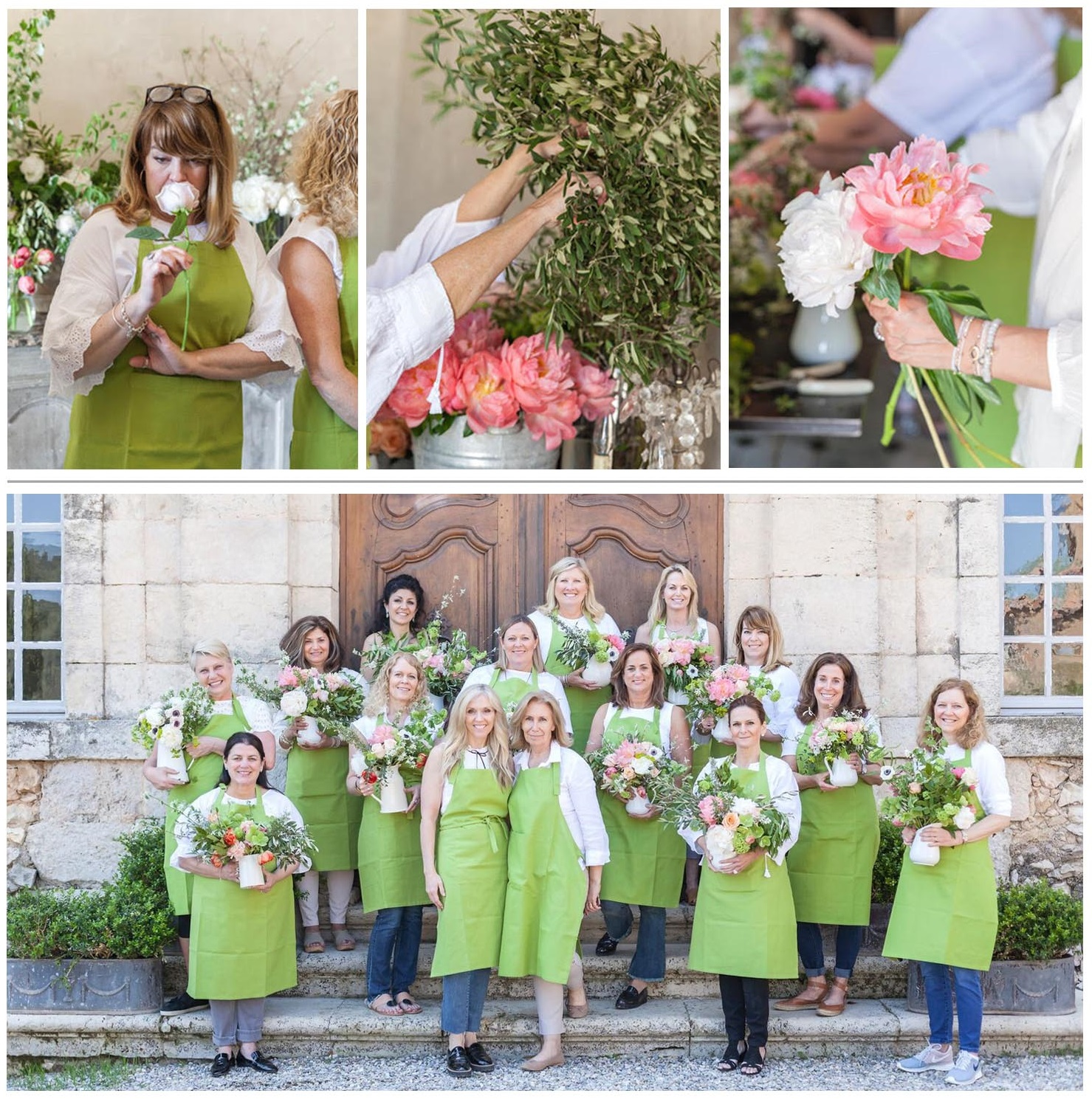 provence tour French chateau flower workshop sandra sigman sharon santoni
