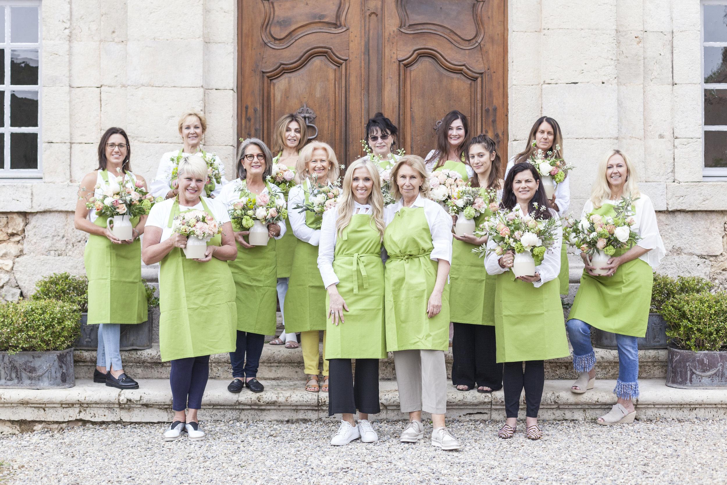 flower workshop provence france french flower design sandra sigman sharon santoni les fleurs my french country home
