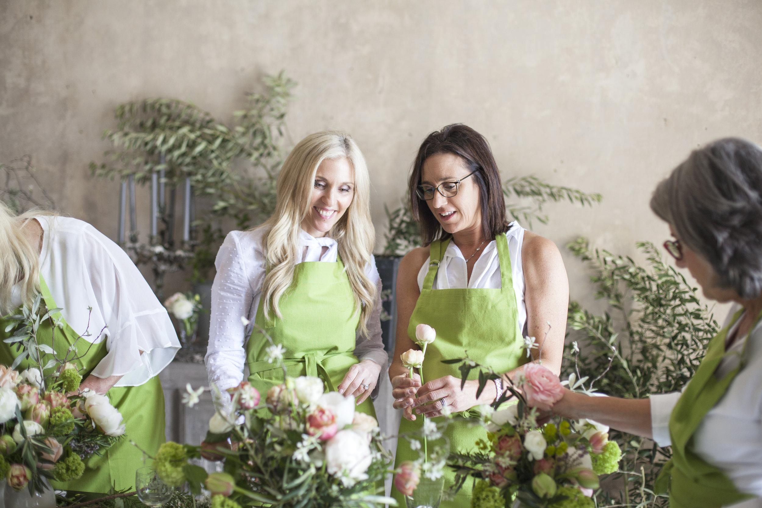 sandra sigman floral design class french chateau workshop