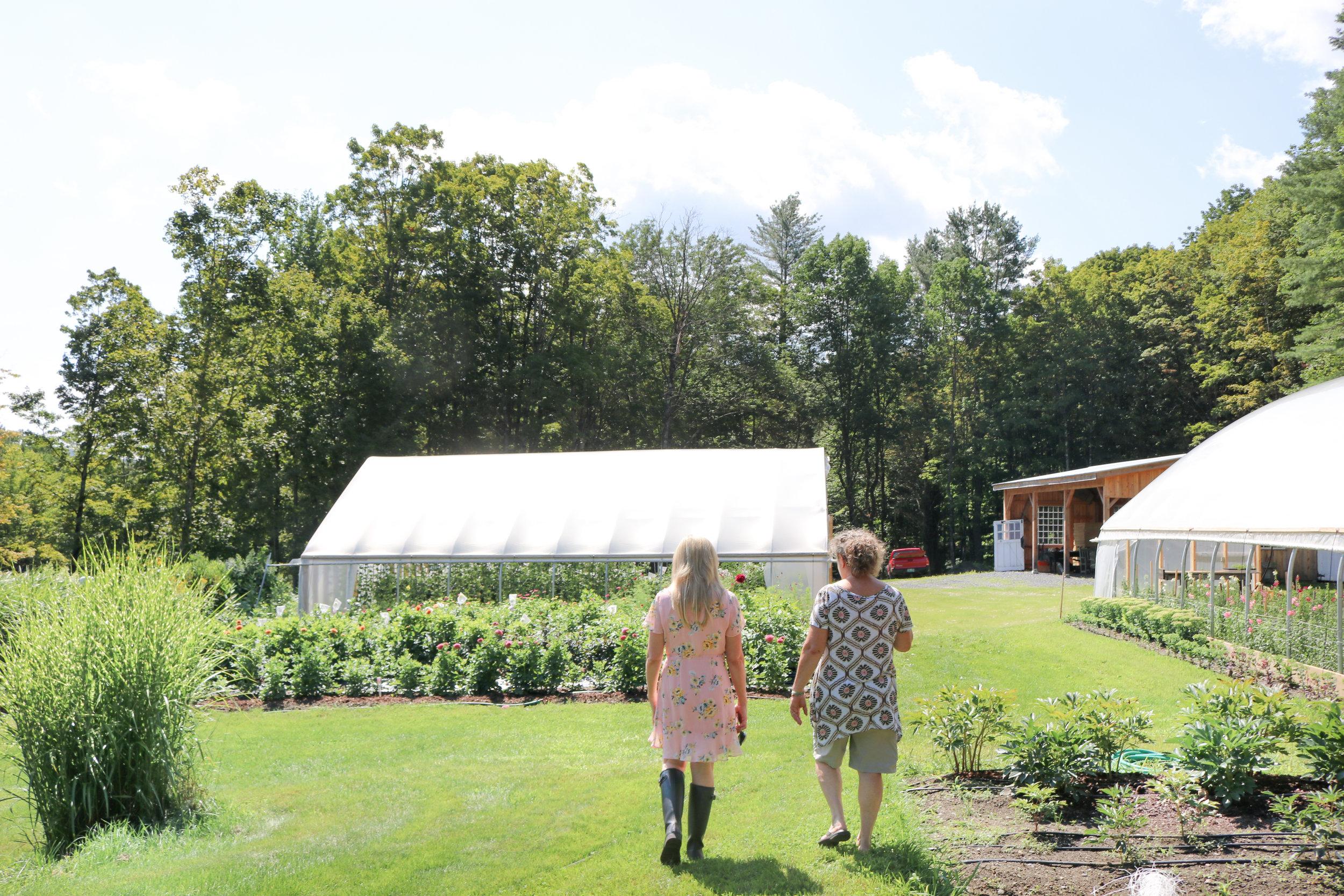 Les Fleurs Sandra meets Maple Flower Farm Liz Krieg