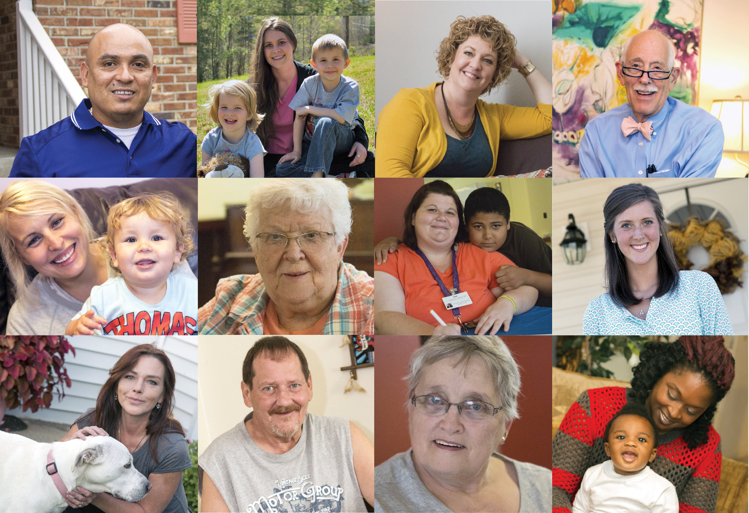 Collage of KHC's program participants;photos are part of the Simply Home series of success stories.