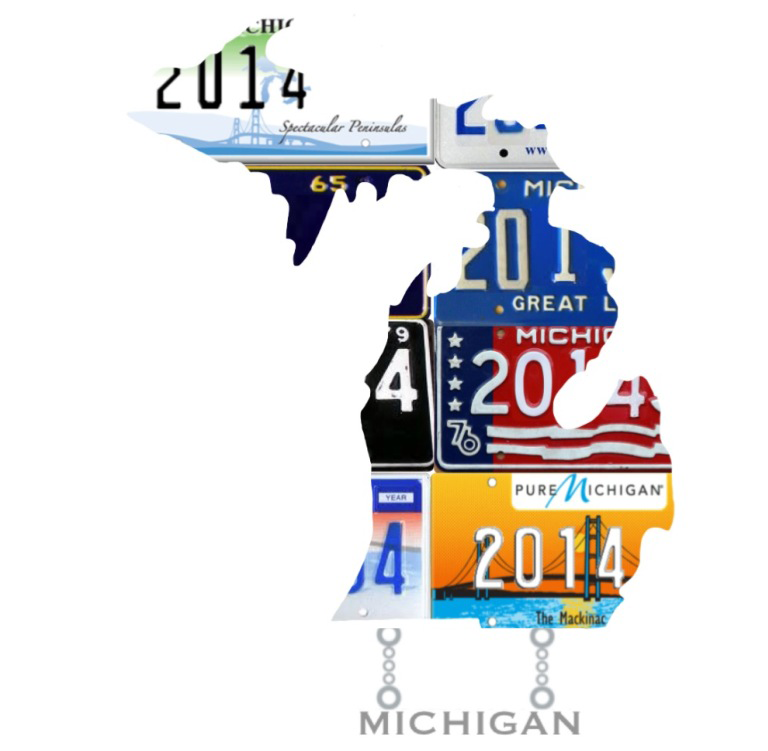 2014 NLC Pin Michigan with 2014 License Plates