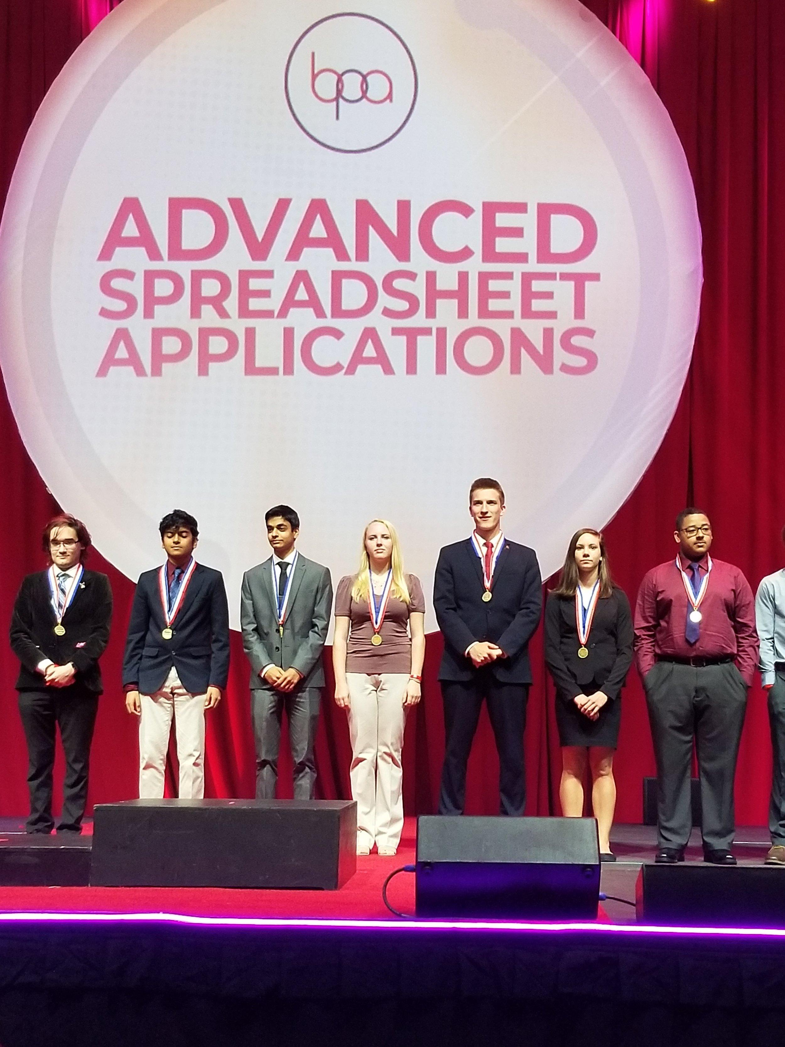 Advanced Spreadsheet Applications (S) winners (2019 NLC)