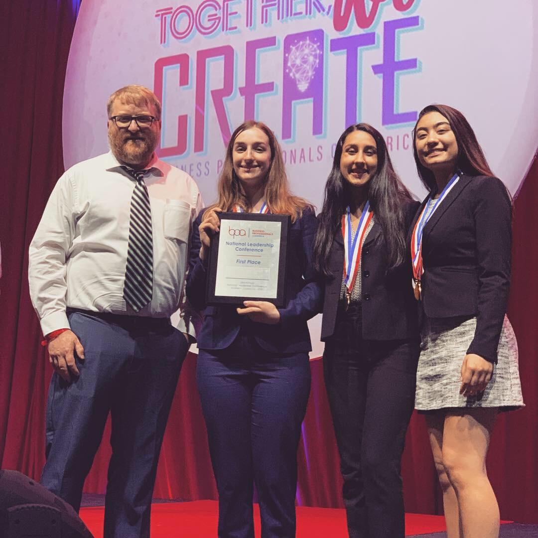 Ann Arbor Huron HS - 1st place Website Design Team (2019 NLC).