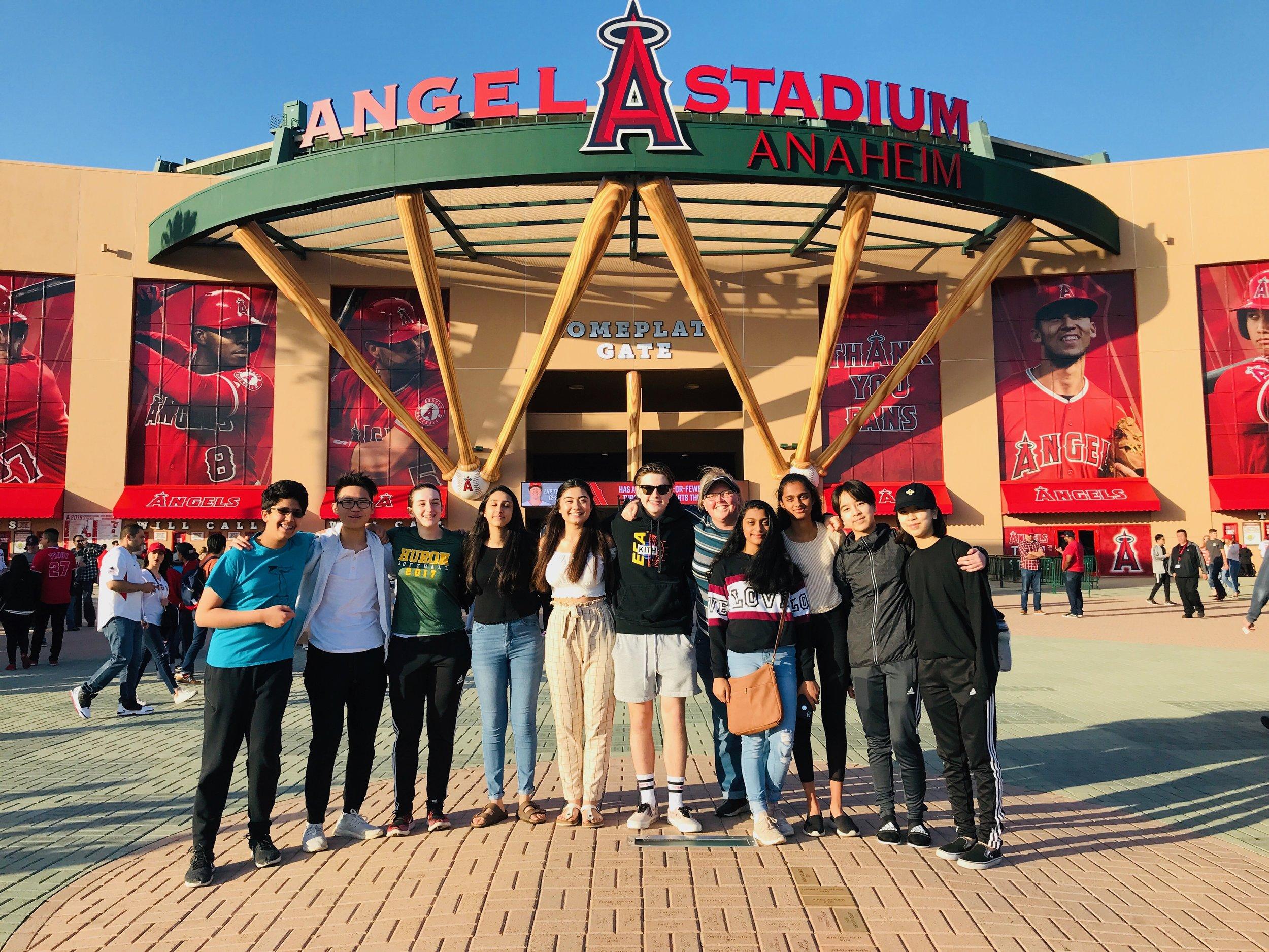 Ann Arbor Huron HS at Angels Stadium (2019 NLC)