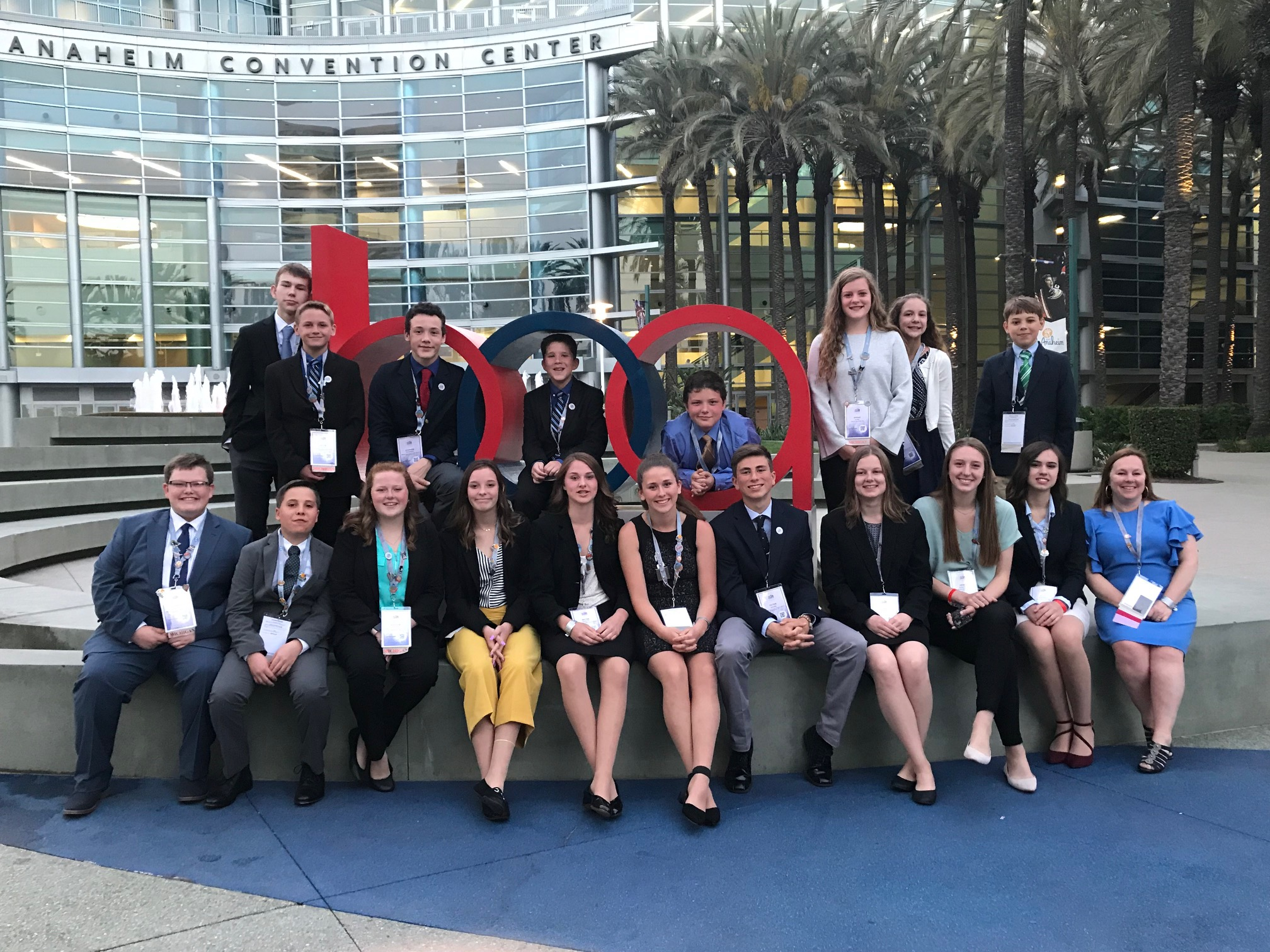 Hillsdale HS and Davis Middle School Chapters (2019 NLC)