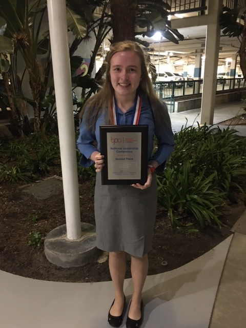 Kasey Kangas, Calumet HS, 2nd Place Advanced Accounting (2019 NLC)