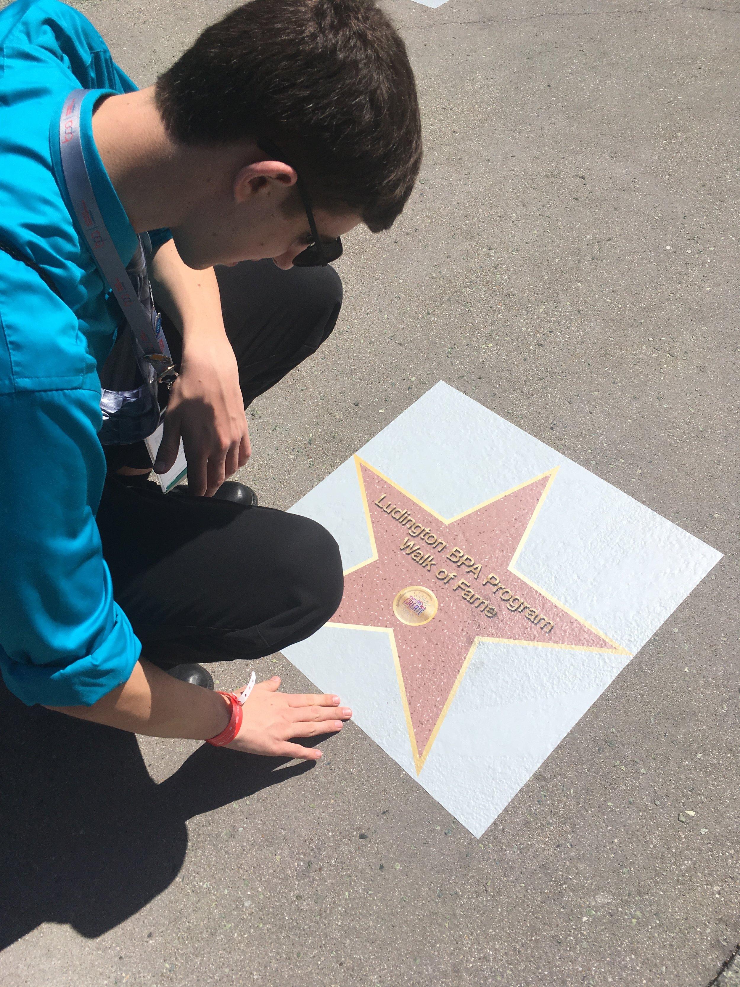 Ludington HS on Walk of Fame (2019 NLC)