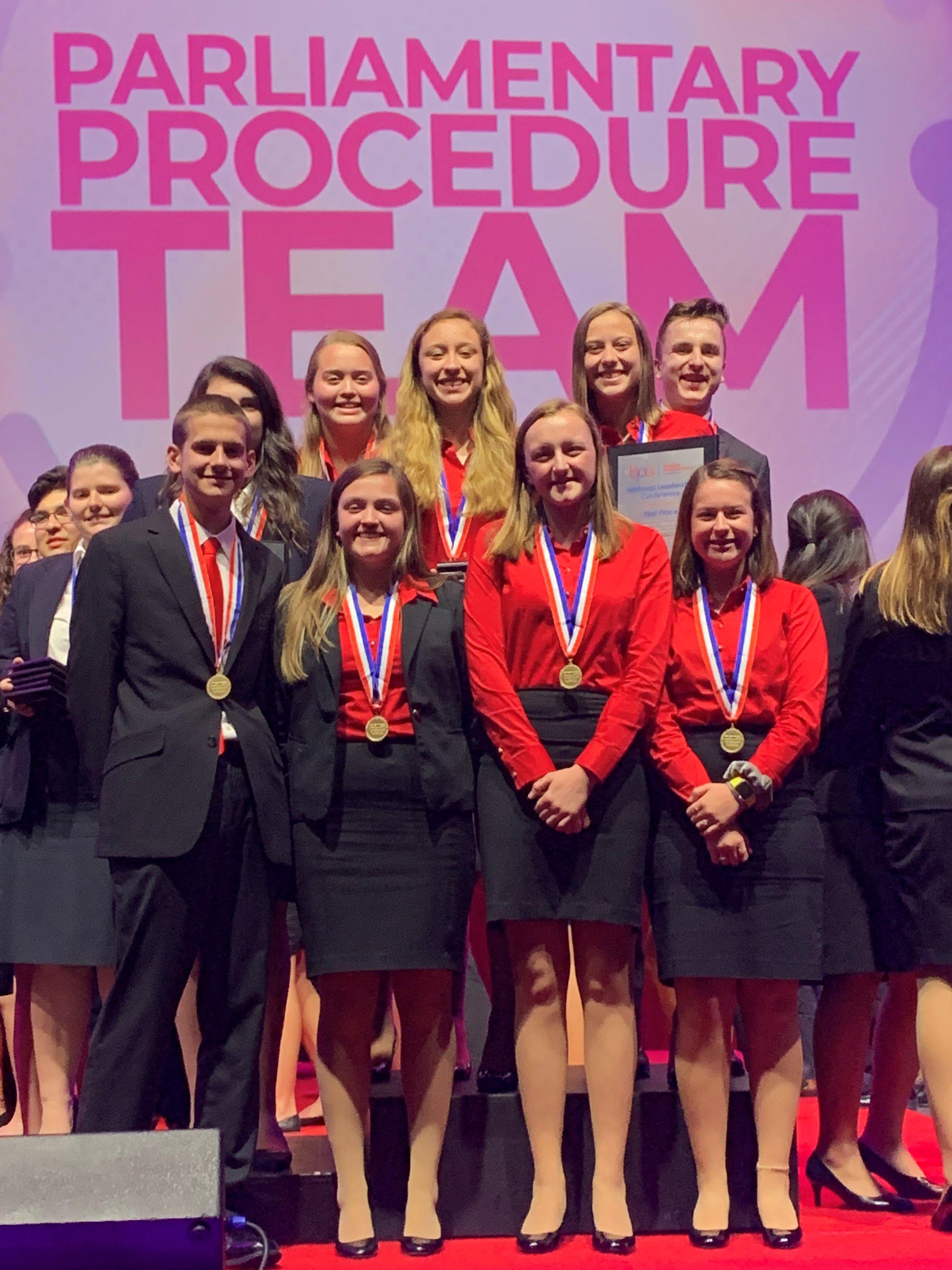 Stephenson HS - 1st place Parliamentary Procedure Team (2019 NLC)