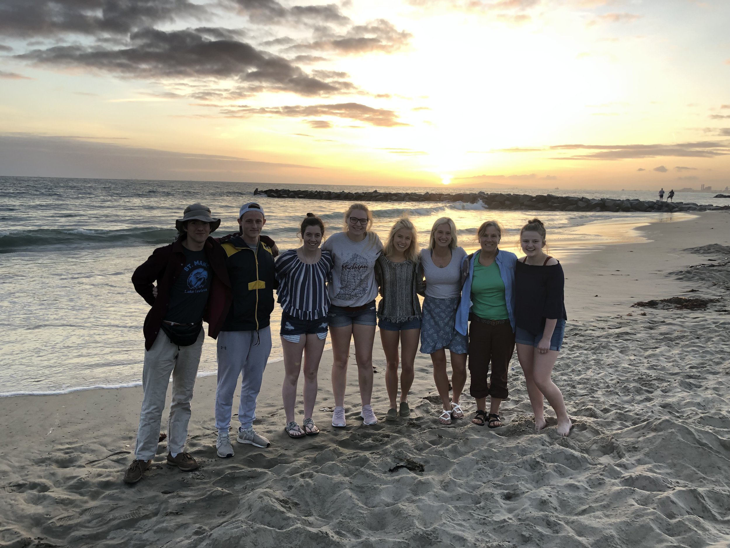 St. Mary HS with Beach Volleyball Olympian April Ross (2019 NLC)