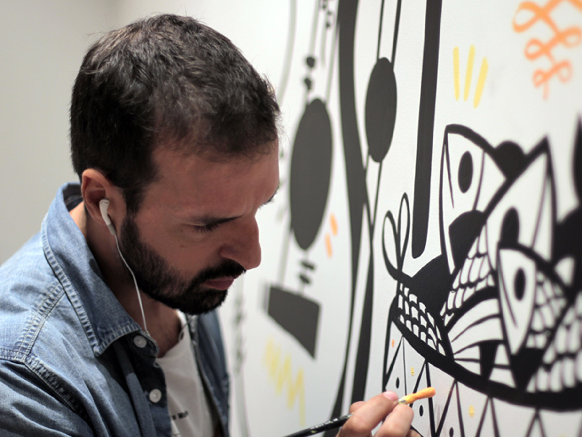 Featured Artists - Spanish street artist Ruben Sanchez hails from Madrid and was an artist-in-residence at Tashkeel in Dubai in 2013.Throughout his artwork you can find inspiration from Mediterranean life, graphic design, flamenco, graffiti, cubism, reclaimed materials and objects, skateboarding, 80's music, surrealism, and social situations.