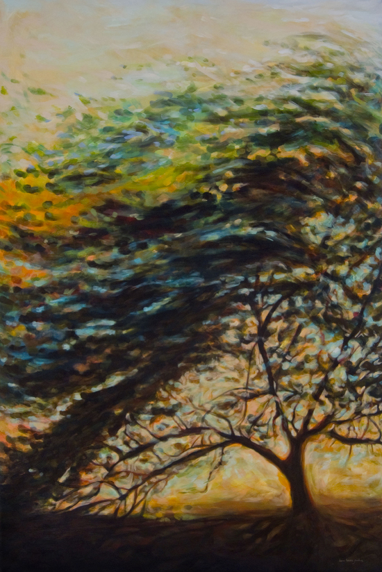 The finished artwork inspired by the Bahrain Tree of Life