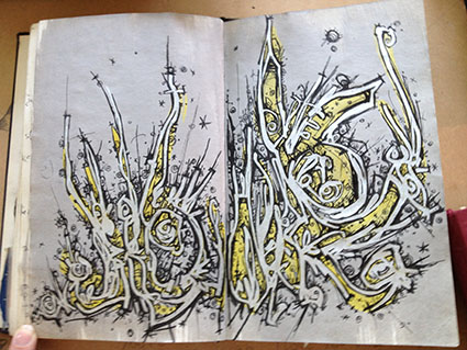 Flipping through sketchbooks of Fathima Mohiuddin
