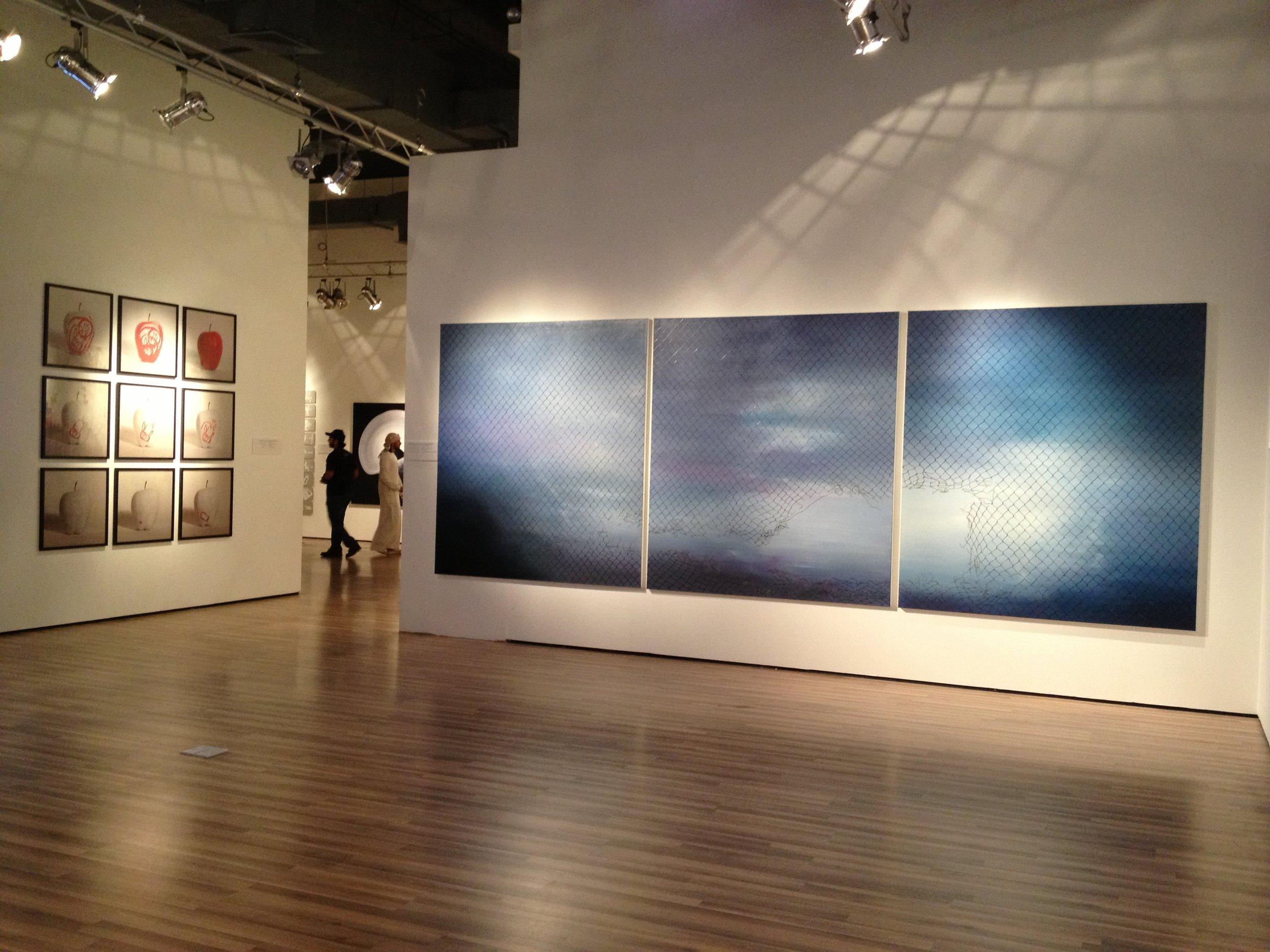 Left to Right: Artists Waheeda Malaullah & Driss Ouadahi