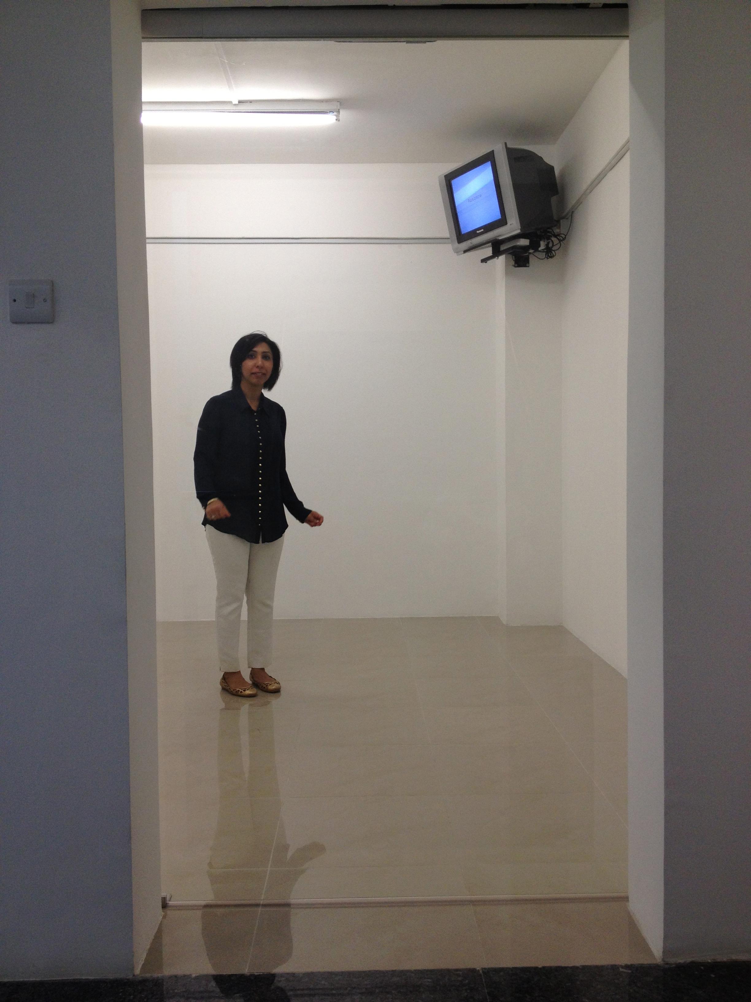 Capsule Arts Director Deepa Bhatia stuck in Valia Fetisov 'Installation of Experience'