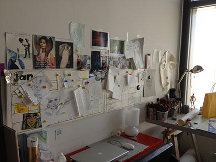 Studio of artist Lama Khatib Daniel